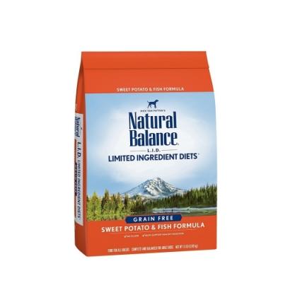 Natural Balance 低敏無穀地瓜鮭魚成犬配方(小顆粒) 12LBS/5.44KG(購買第二件贈送寵鮮食零食*1包)