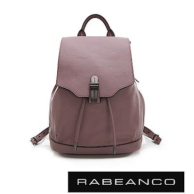 RABEANCO 經典壓扣設計束口後背包 紫羅蘭