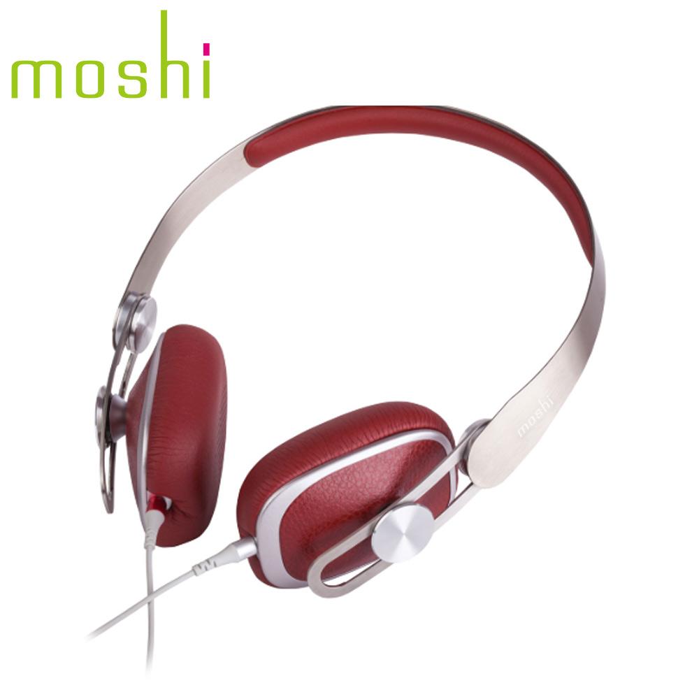 Moshi Avanti 耳罩式耳機(勃根地紅色)