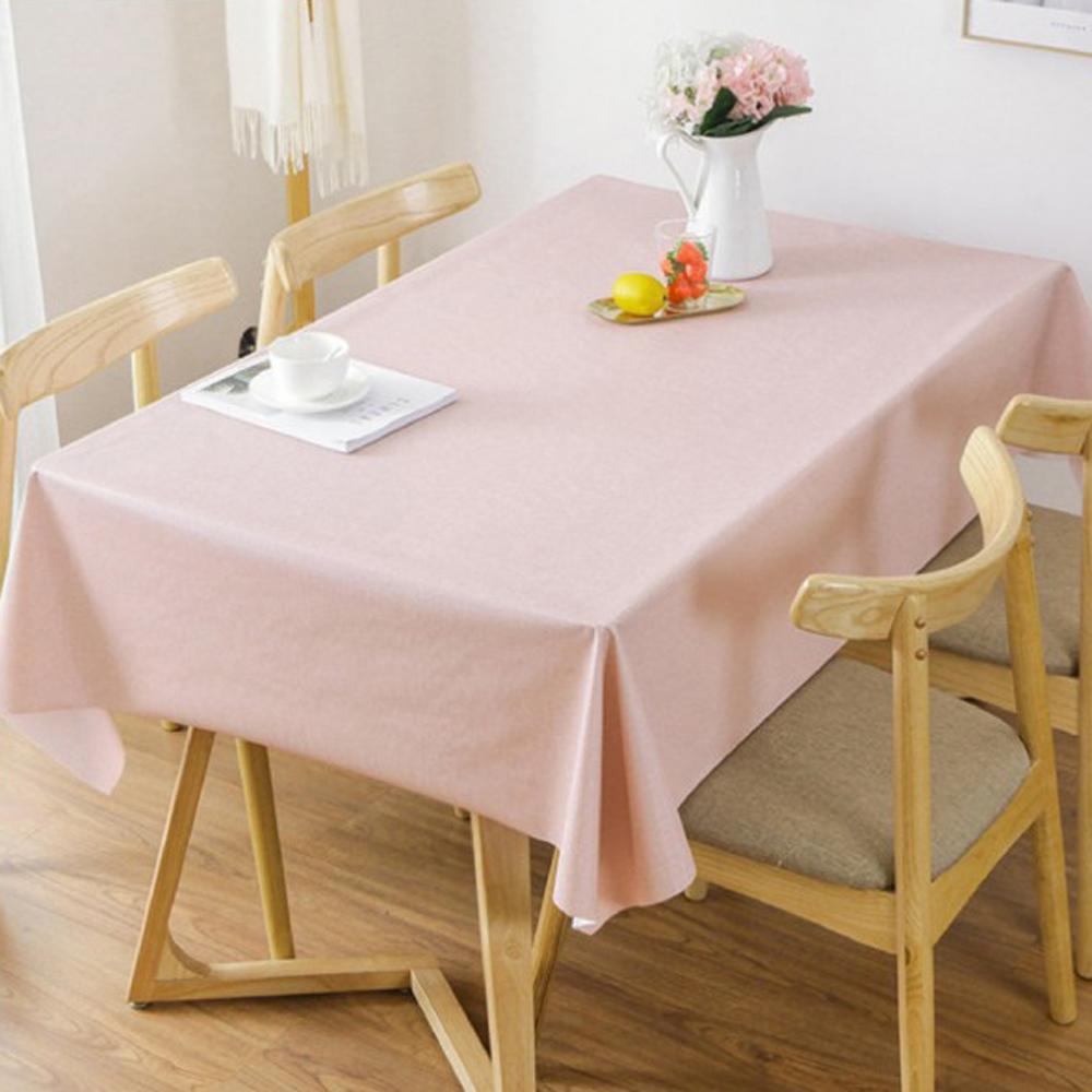 媽媽咪呀 複合材質防水防油汙餐桌墊/野餐墊-純色櫻花粉137*180cm
