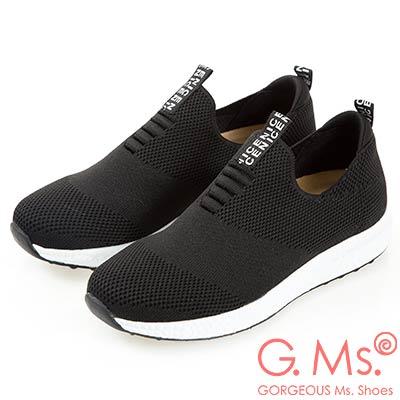 G.Ms. MIT系列-針織網布懶人休閒鞋-黑色
