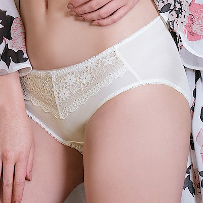 推EASY SHOP-柔情蔓戀 中腰三角褲(陽光白)