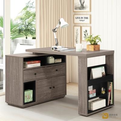 D&T 德泰傢俱 Buck胡桃色4尺伸縮功能桌 寬120~150×深56×高75cm
