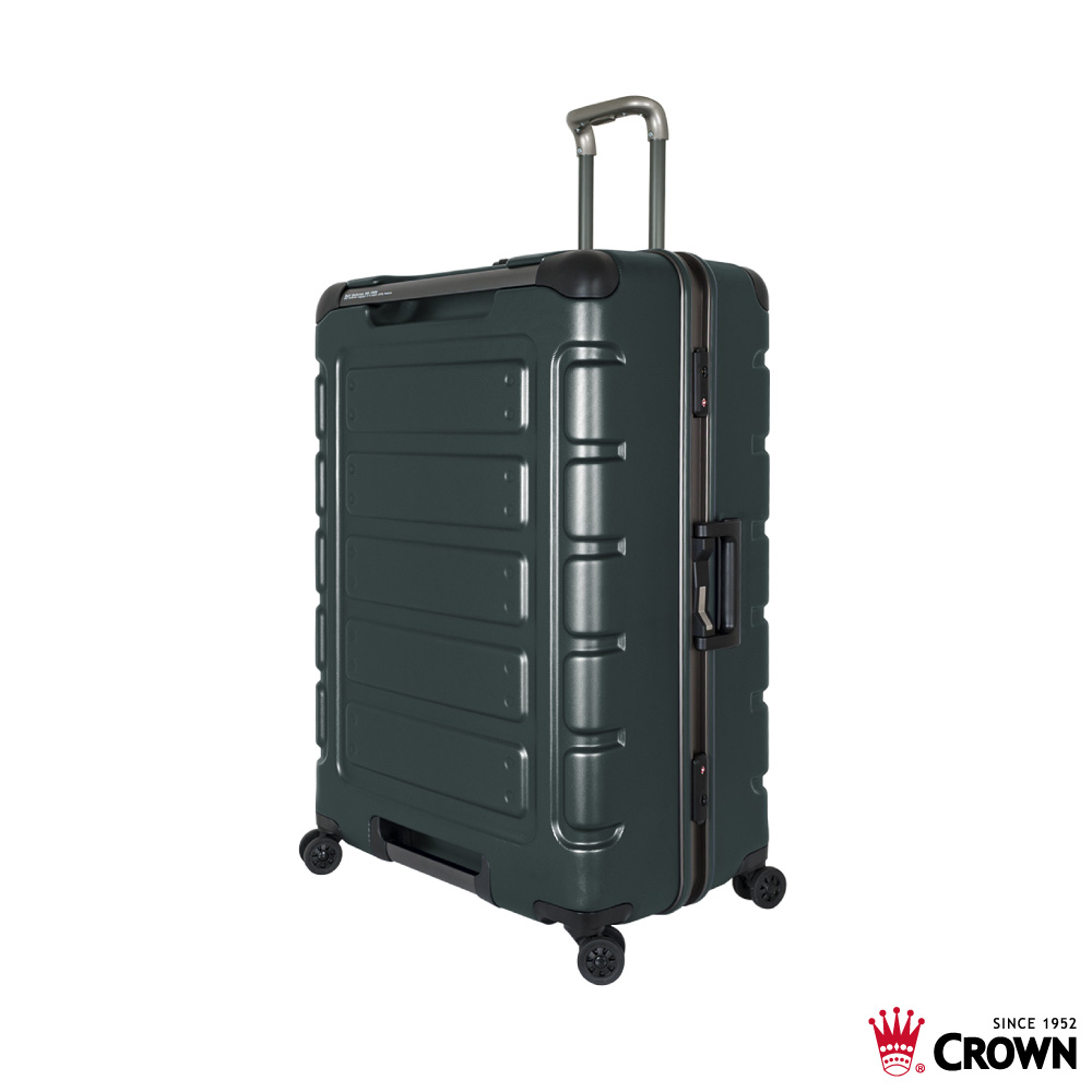 CROWN 皇冠 30吋鋁框箱 深綠色 悍馬箱 獨特箱面手把 行李箱 product image 1
