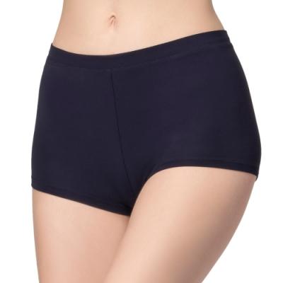 思薇爾 嗨Q Bra系列M-XL素面無痕中低腰安全褲(紫鐵黑)