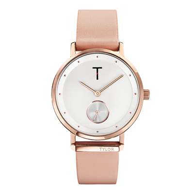 TYLOR夢想時尚T字時刻腕錶-粉紅色(TLAJ001)/34mm