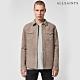 ALLSAINTS WALBROOK 經典時尚素面雙口袋修身羊皮長袖襯衫-淺棕 product thumbnail 1