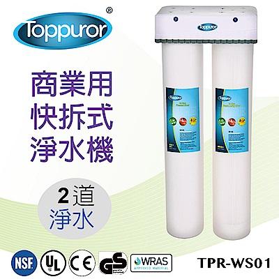 【泰浦樂 Toppuror】2道式商業用快拆飲淨水機(TPR-WS01)