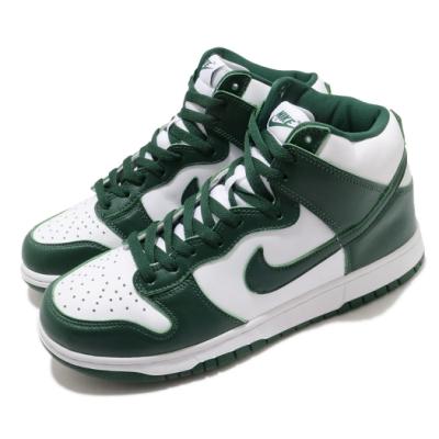 Nike 滑板鞋 Dunk Hi SP 運動 男女鞋 經典款 皮革 簡約 高筒 情侶穿搭 白 綠 CZ8149100