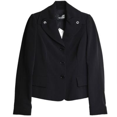 LOVE MOSCHINO 品牌風格水鑽釦短外套(黑色/40號)