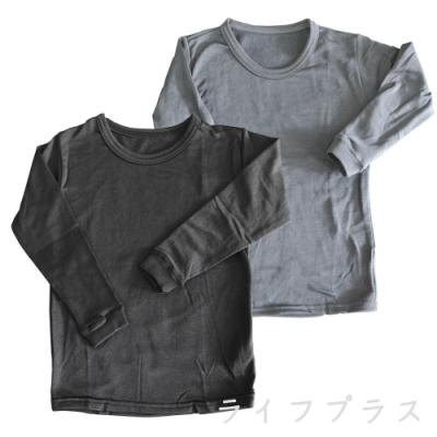 兒童圓領刷毛衣-黑色/深灰色-4件入
