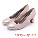 Easy Spirit RAPHAEL 氣質時尚拼接中跟鞋-米色