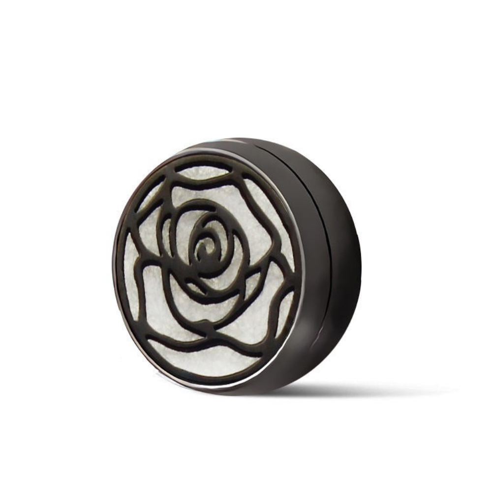 鈦鋼口罩薰香磁扣 黑 微醺玫瑰