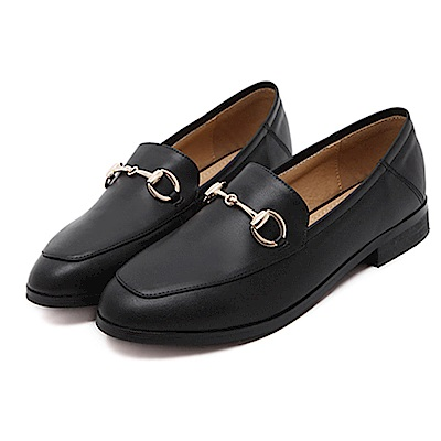 KEITH-WILL時尚鞋館 時尚歐美百搭舒適平底鞋-黑色