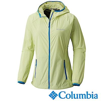Columbia 哥倫比亞 女款-快排連帽外套-黃色 UKR10030YL