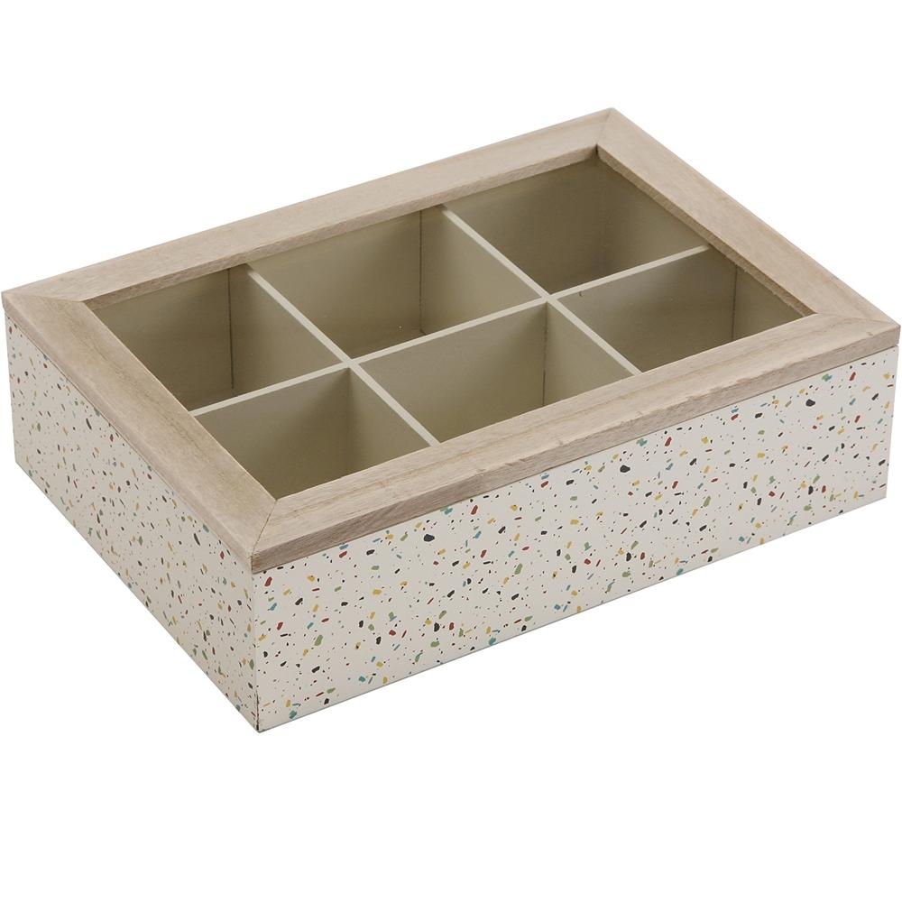 《VERSA》木質茶包收納盒(彩點)