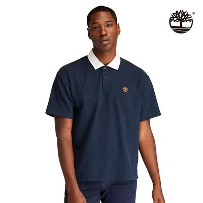 Timberland 男款深寶石藍撞色衣領Polo衫|A22Z7433