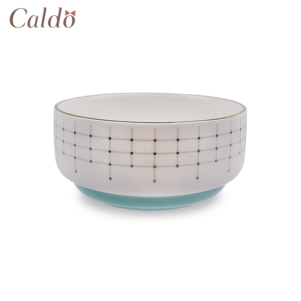 【Caldo卡朵生活】北歐輕奢典雅描金4.5吋陶瓷飯碗(快)