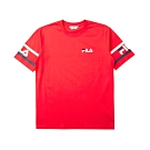 FILA #LINEA ITALIA 短袖圓領T恤-紅 1TET-5402-RD