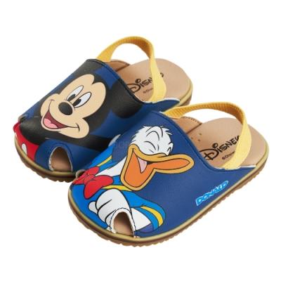 迪士尼童鞋 米奇 不對稱護趾造型寶寶涼鞋-藍(柏睿鞋業)