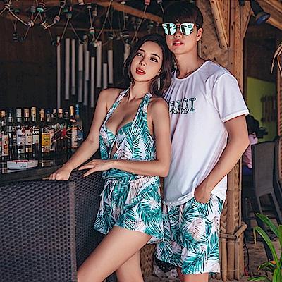 Biki比基尼妮泳衣   百風綠三件式情侶泳衣比基尼(女生購買區)