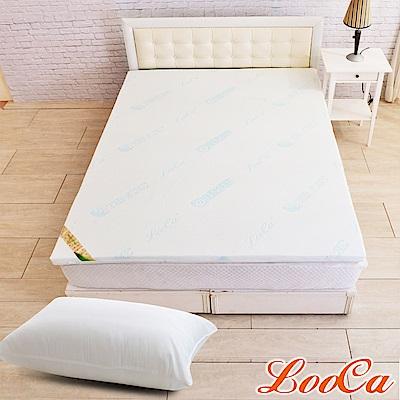 (開學組)LooCa 水漾天絲5cm七段式乳膠床墊-單大3.5尺