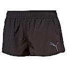 PUMA-女性基本系列短風褲-黑色-亞規