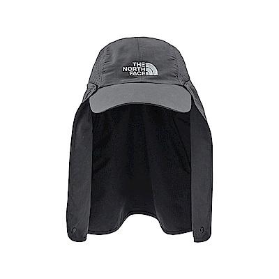 The North Face北面男女款深灰色防曬兩用可拆式登山帽|2SATAGB