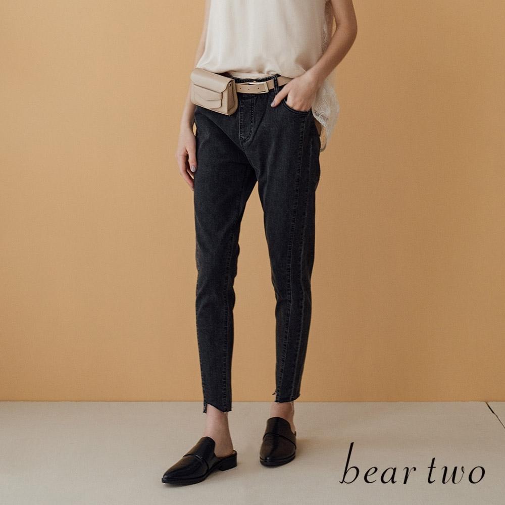 beartwo- 全鬆緊腰頭修身牛仔褲-兩色