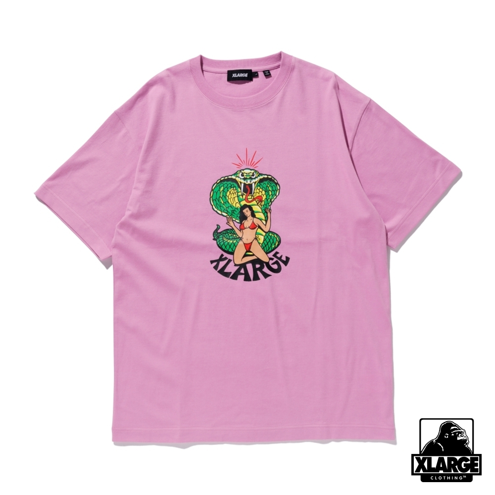 XLARGE S/S TEE LOVE ME LIKE A REPTILE 眼鏡蛇短T-紫