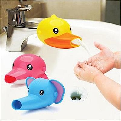 JoyNa兒童洗漱洗手必備輔助水龍頭卡通造型洗手器-2入組