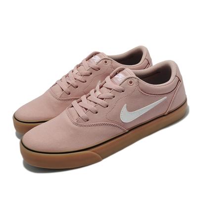 Nike 滑板鞋 SB Chron 2 Canvas 男女鞋 帆布 避震泡棉 運動 舒適 情侶穿搭 粉 棕 DM3494-600