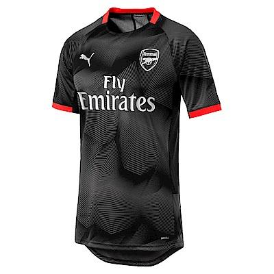 PUMA-男性AFC系列印花訓練球衣-黑色-歐規