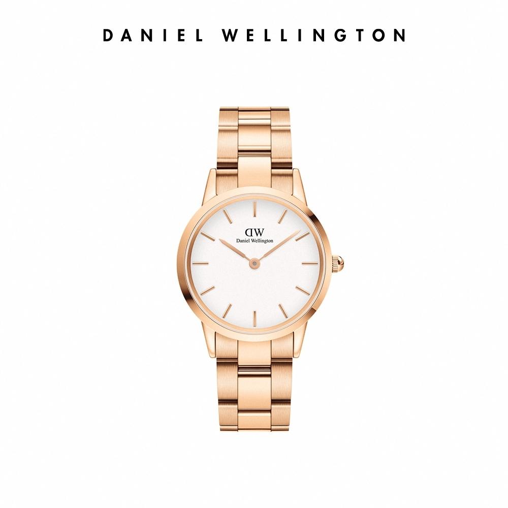 DW 官方直營 Iconic Link 32mm精鋼錶-特調玫瑰金 DW手錶 女錶