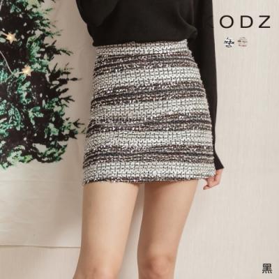 東京著衣-KODZ 天生光圈多元素橫條亮片A字裙-S.M.L