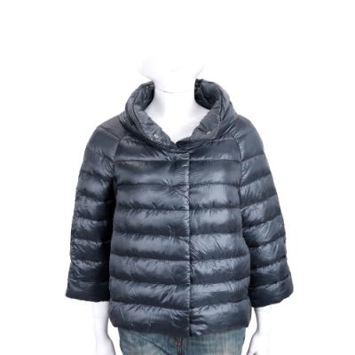 HERNO 深藍色立領絎縫羽絨外套