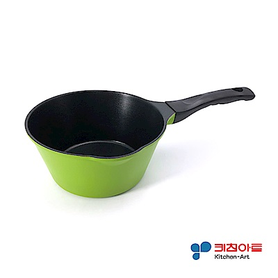 韓國Kitchen Art綠鈦晶原石不沾奶鍋(18cm)(快)