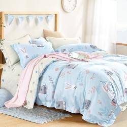 (出清)La Lune 裸睡親膚吸濕排汗天絲床包枕套組 均一價