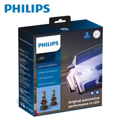 PHILIPS 飛利浦Ultinon Pro9000 LED超亮鑽光頭燈兩入裝(公司貨) +250%