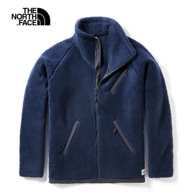 The North Face北面男款藍色防風防潑水抓絨上衣|3VUXH2G