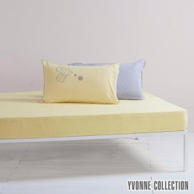 YVONNE 素面純棉單人床包(105x186公分)-暖陽黃