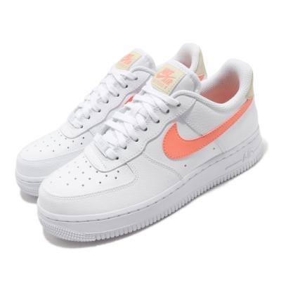 Nike 休閒鞋 Air Force 1 07 運動 女鞋 經典款 AF1 舒適 簡約 皮革 穿搭 白 橘 315115157