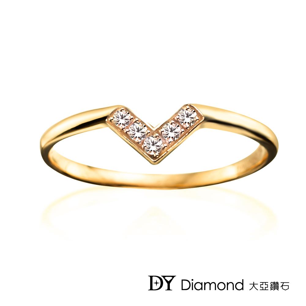 DY Diamond 大亞鑽石  L.Y.A輕珠寶 18K黃金 心戀 鑽石線戒