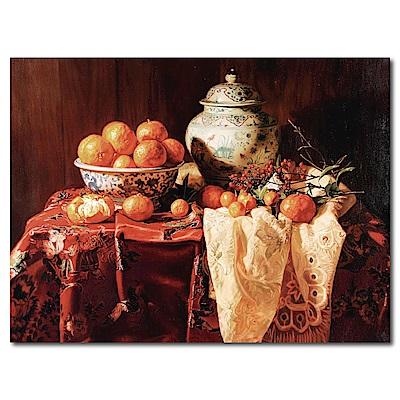 橙品油畫布-單聯式橫幅 水果無框畫-橘子坊-40x30cm