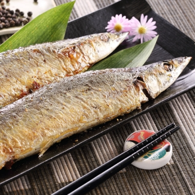 【上野物產】極品嚴選肥美秋刀魚 x10包(600g土10%/包)
