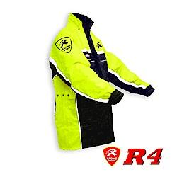 天德牌 多功能護足型風雨衣 R4 (上衣輕薄版)(兩件式)開運黃