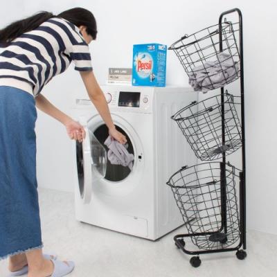 樂嫚妮 三籃收納車/洗衣籃-兩色 [限時下殺]