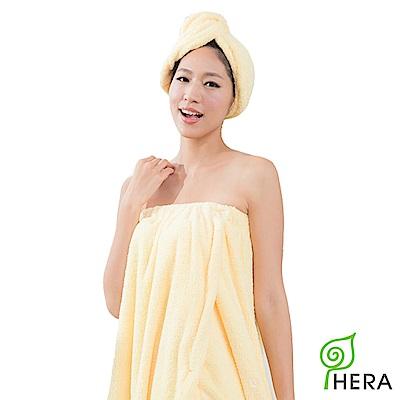 HERA 3M專利瞬吸快乾抗菌超柔纖浴裙-奶油黃