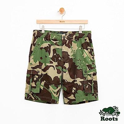 男裝Roots 博靈頓迷彩工作短褲-綠