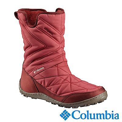 Columbia哥倫比亞 女款- 防水鋁點保暖雪靴-紅色 UBL59590RD